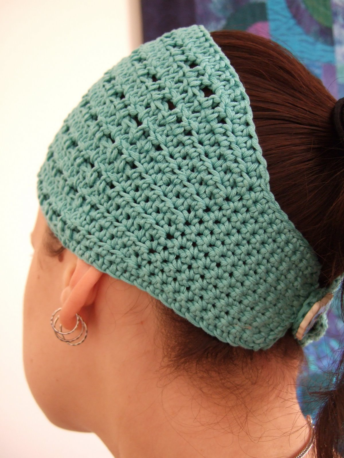 Crochet Wide Headband With Flower Free Pattern : >Free pattern : Nadie ? crochet headband / hair wrap ...